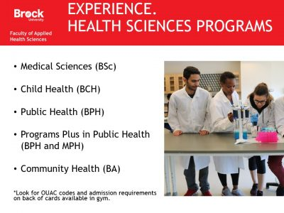 Health Sciences Programs Slide