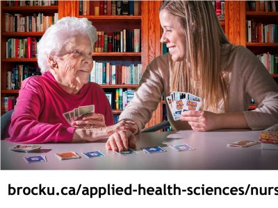 Nursing student with elderly woman