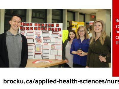 Brock Nursing students host a health fair
