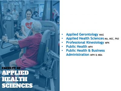 Applied Health Sciences grad programs slide