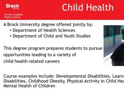 Health Sciences Child Health Slide