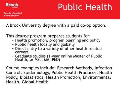 Health Sciences Public Health Slide