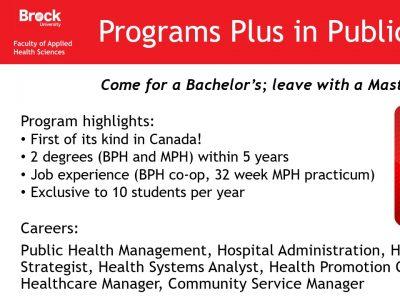 Health Sciences Programs Plus in Public Health Slide