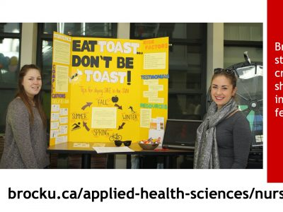 Nursing students present a project