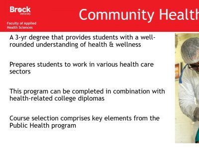 Health Sciences Community Health Slide