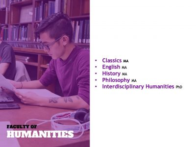 Humanities grad programs slide