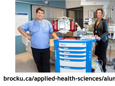 Brock Nursing students at a placement
