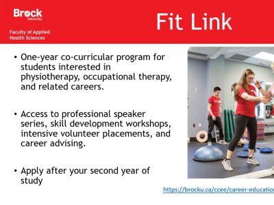 Health Sciences Fit Link Slide