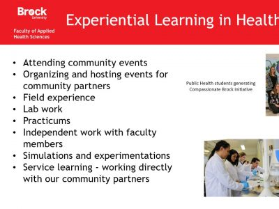 Applied Health Sciences Experiential Learning in Health Sciences