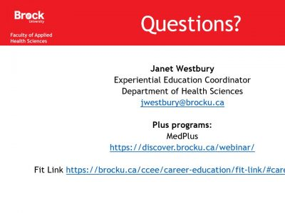Applied Health Sciences Questions slide