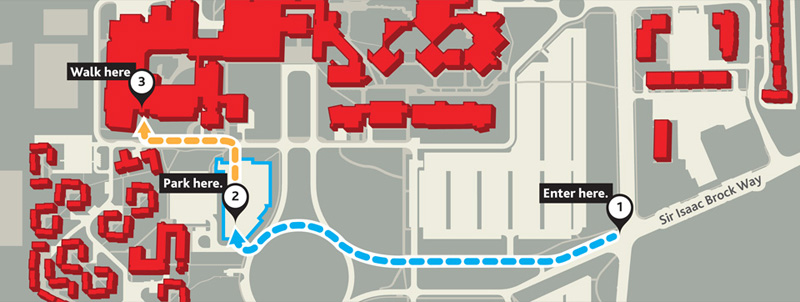 Park in Lot D and walk to the Walker Complex to start your evening