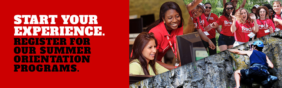 Start your experience. Register for our summer orientation programs.