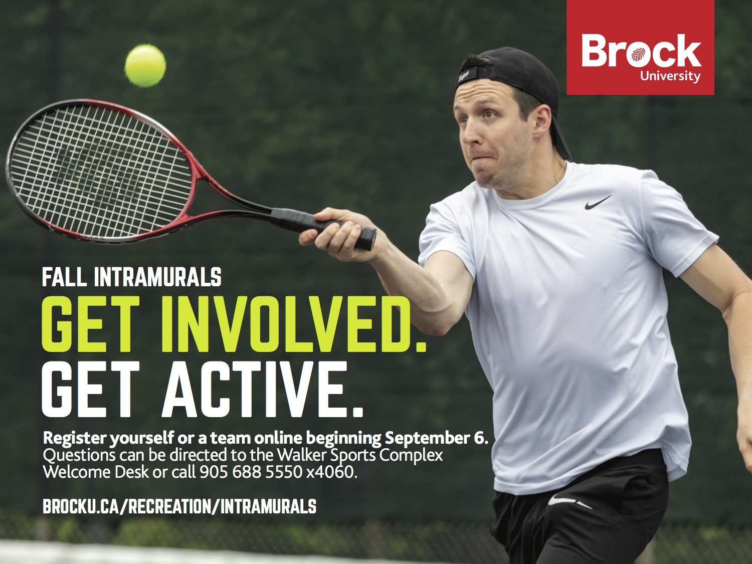 Get Involved - Get Active - Fall Intramurals
