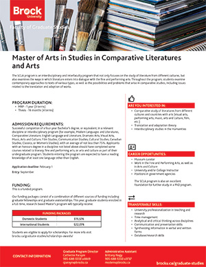 MA in Comparative Literatures and Arts