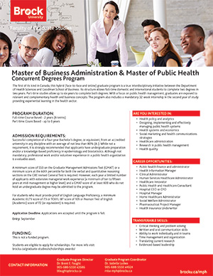 MBA and Master of Public Health