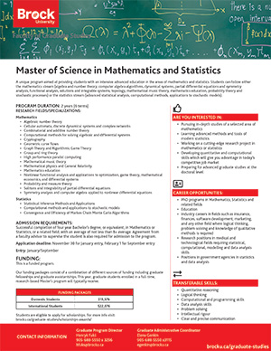 MSc in Mathematics and Statistics