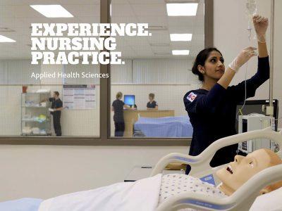 Nursing student in simulation lab