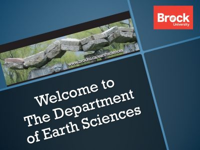 Welcome to the Department of Earth Sciences