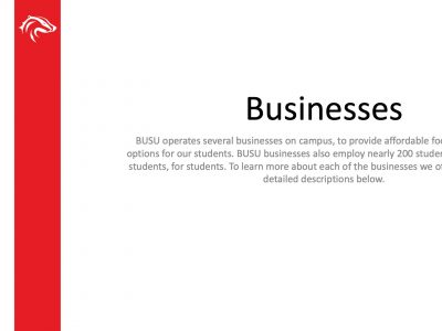 BUSU Businesses Slide