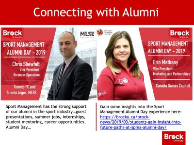 Sport Management Alumni Slide