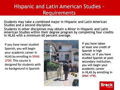 Hispanic and Latin American requirements
