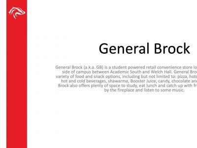 BUSU General Brock Slide