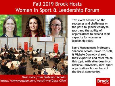 Women in Sport & Leadership Forum slide