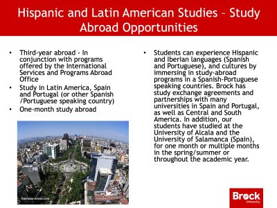 Hispanic and Latin American studies study abroad opportunities