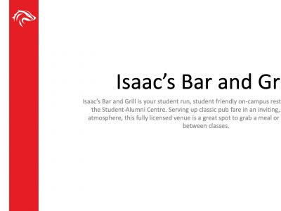 BUSU Isaac's Bar and Grill Slide