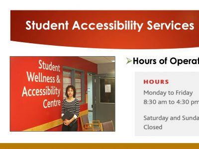 Student Accessibility Services hours of operation