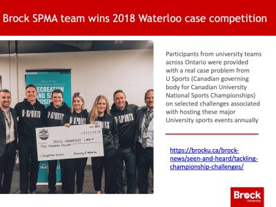 Sport Management students win case competition