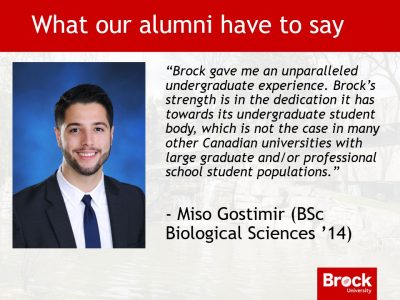 Alumni message from Miso Gostimir