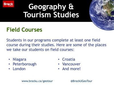 Geography and Tourism Studies Field Courses Slide