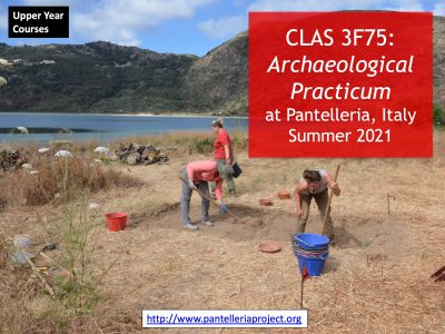 Classics students at archaeological dig site
