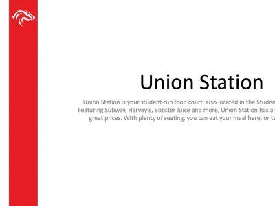 BUSU Union Station Slide