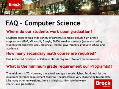 Computer Science FAQ Slide