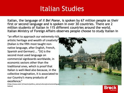 What is Italian studies?