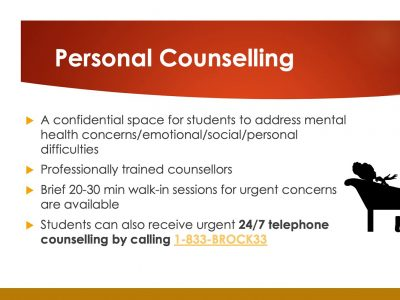 Information about Personal Counselling