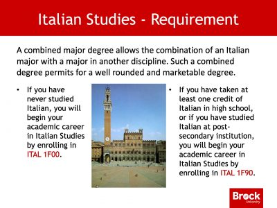 Italian studies requirements
