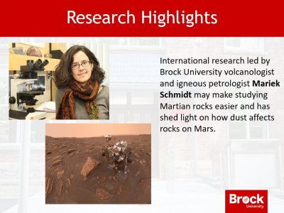 Research highlights - Mariek Schmidt