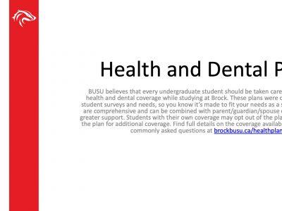 BUSU Health and Dental Plan Slide