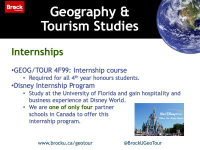 Geography and Tourism Studies Internships Slide