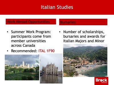 Work abroad opportunities Italian studies
