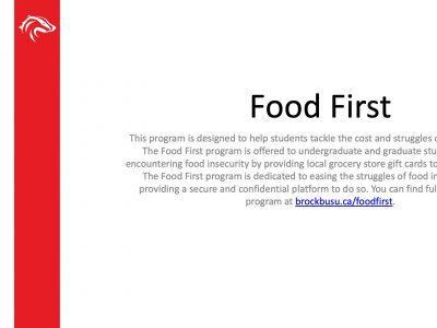 BUSU Food First Slide