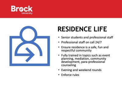 Residence Life Slide