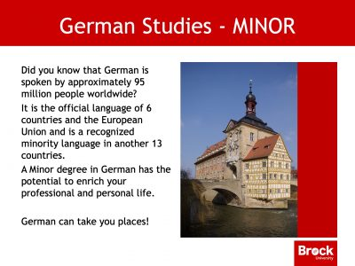Information on Minor in German