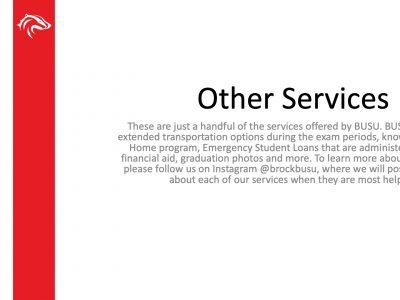 BUSU Other Services Slide