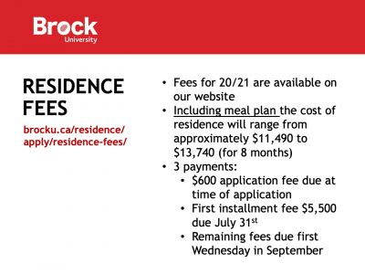 Residence Fees Slide