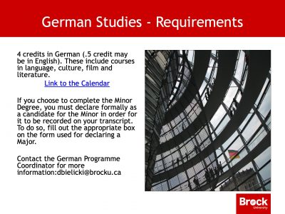 Requirements for German studies