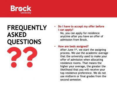 Residence FAQ Slide